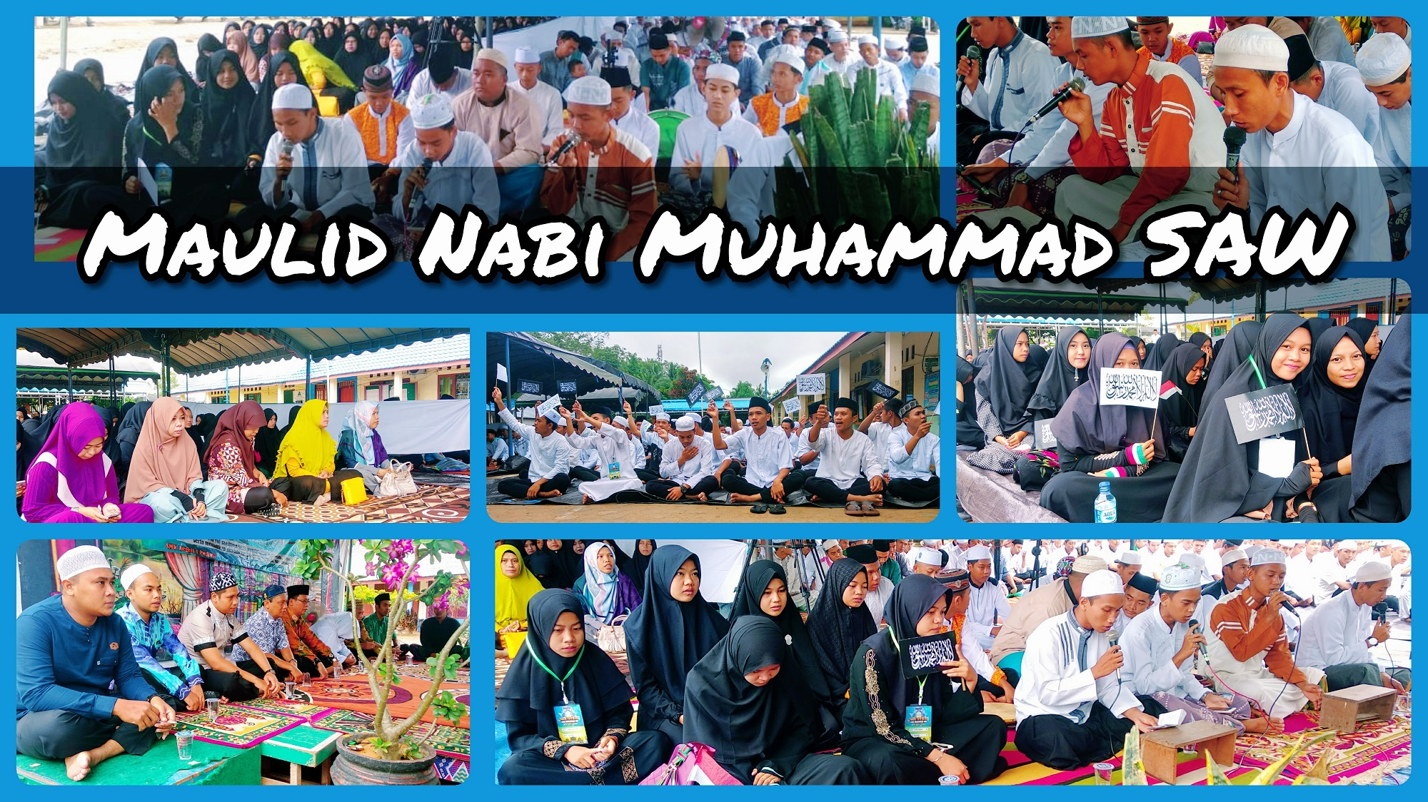Siswa dan Guru SMKN 1 Pugaan Peringatan Maulid Nabi Muhammad SAW 1440 H
