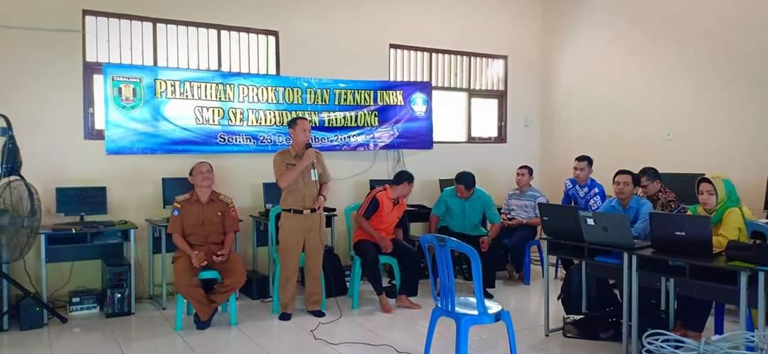 Pelatihan Proktor dan Teknisi UNBK SMP Se Wilayah Selatan Kab. Tabalong