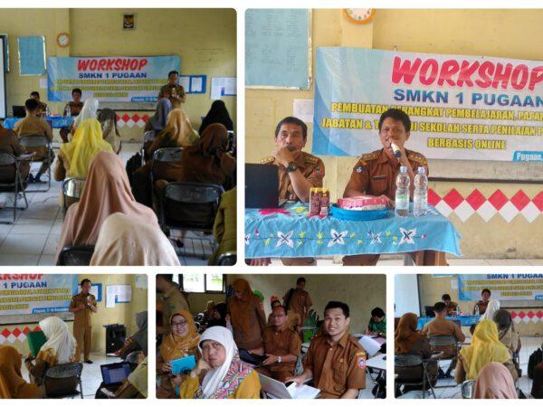 Workshop SMKN 1 Pugaan Dalam Pembuatan Perangkat Pembelajaran, Paparan Tupoksi Jabatan & Tugas di Sekolah Serta Penilaian Pembelajaran Berbasis Online